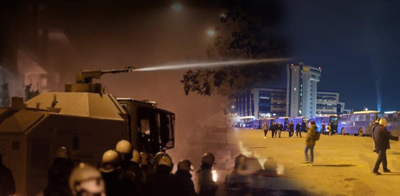 Νύχτα κόλασης σε Χίο, Μυτιλήνη - Μάχες με τα ΜΑΤ στα λιμάνια